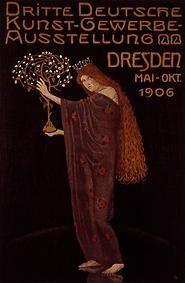 Poster for the 3rd German arts and crafts -- exhibition in 1906 of Otto Gussmann