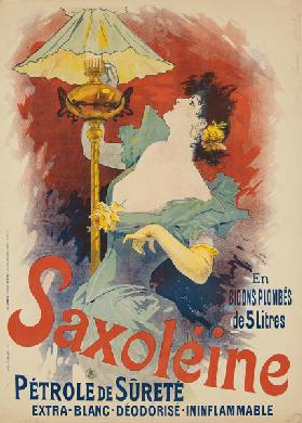 Poster advertising 'Saxoleine Safety Lamp Oil'