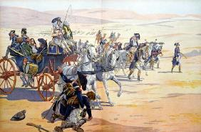 Napoleon (1769-1821) and his Troops in the Desert during the Egyptian Campaign, illustration from 'B