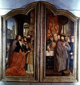 The Holy Kinship, or the Altarpiece of St. Anne, detail of the reverse of the central panels