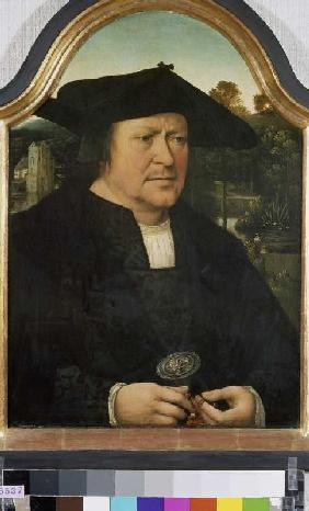 Portrait of an unknown man with a rosary.