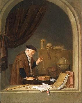 Brekelenkam, Quiringh Gerritsz. van : An Old Man Weighing Gold