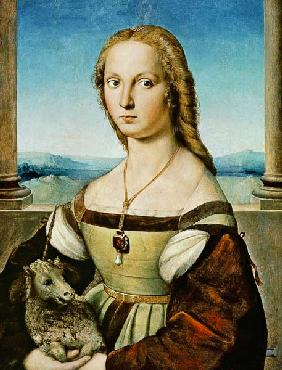 Portrait of a Lady with a Unicorn