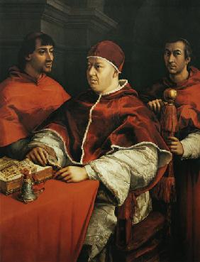 Portrait Leos X. with the cardinals Giulio de 'Medici and Luigi de' Rossi