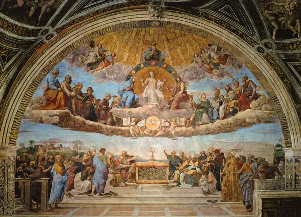La disputa del sacramento - Raffael (eigntl. Rafaello Sant ...