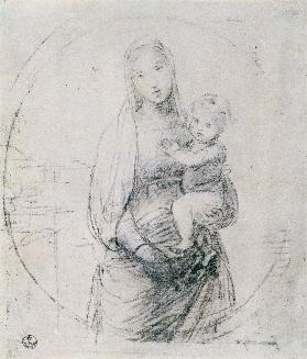 Study of a Madonna and Child
