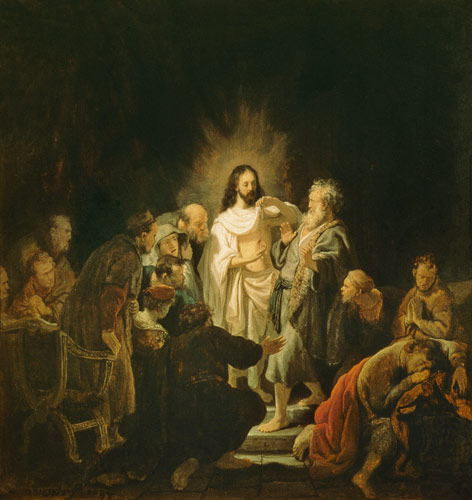 Jesus risen from the dead shows the apos - Rembrandt ...