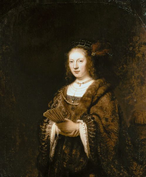Image: Rembrandt van Rijn - Lady with a fan