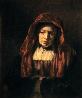 Portrait of an old woman (the mother of the artist)