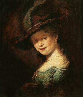 Saskia van Uijlenburgh as a young girl