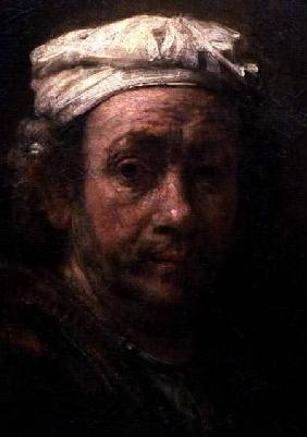 Portrait of the Artist at His Easel, detail of the face