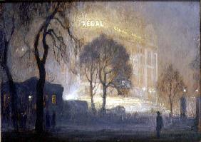 The Regal from Hyde Park on a Misty Night, 1932 (panel)