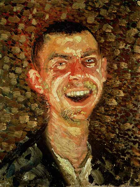 Self Portrait Laughing Richard Gerstl As Art Print Or