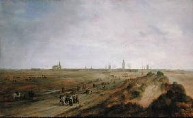 Landscape with a view of Ostend