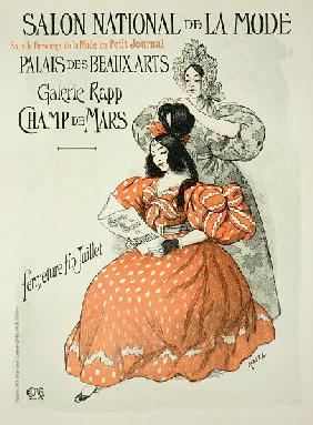 Reproduction of a poster advertising the 'Salon National de la Mode', Rapp Gallery, Paris