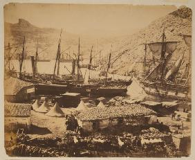 Russian Warships in the Cossack Bay, Balaklava