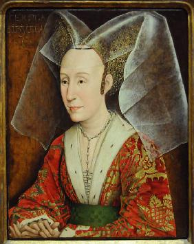 Portrait of Isabella of Portugal, wife of Philip III Duke of Burgundy (1397-1471)