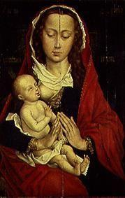 The virgin with the child.