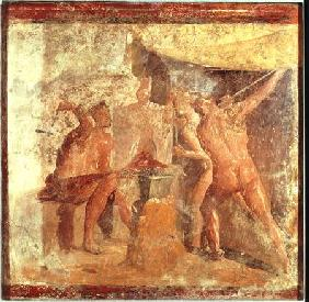 The Forge of Vulcan, from House VII, Pompeii