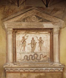Household shrine, from the Casa dei Vetti House of the Vettii)