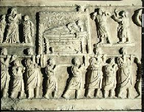 Relief depicting a funeral scene