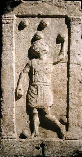 Relief depicting a juggler from the stela of Settimia Spica