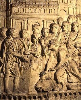 The Sarmatians paying tribute to the Romans, detail from a cast of Trajan's column