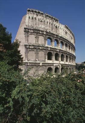 The Colosseum, built 70-80 AD (colour photo)
