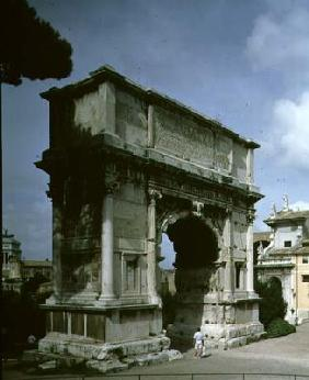 The Arch of Titus, to commemorate the Emperor's Sack of Jerusalem in 70 AD, 81 AD (photo)