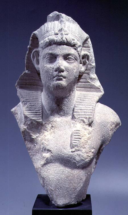 Bust Of A Roman Emperor As A Pharaoh Roman Period