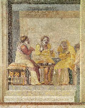 A magical consultation, from Villa di Cicerone, Pompeii (mosaic)