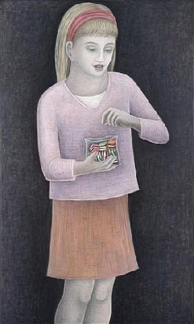 Young Girl with Sweets, 2007 (oil on canvas)
