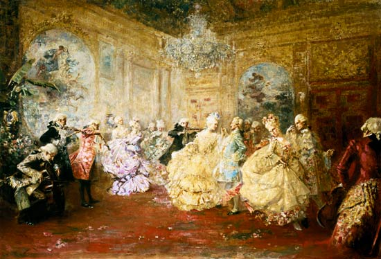 Ball in the Rococo period. - Salvador Barbudo-Sánchez as art print or ...