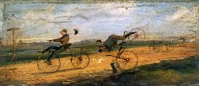 A Race between Lallement Velocipedes