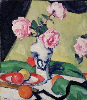 Still Life with Japanese Jar and Roses, c.1919