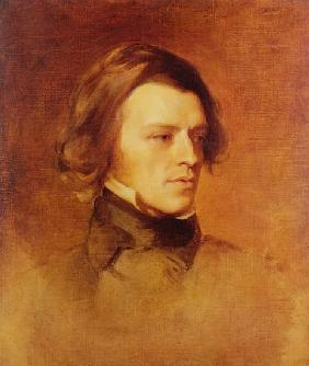 Portrait of Alfred Lord Tennyson (1809-92) c.1840 (oil on canvas
