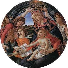 Madonna with child and five angels
