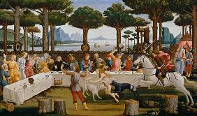 The banquet of the Nastagio degli Onesti