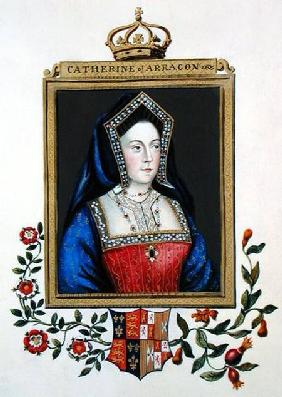 Portrait of Catherine of Aragon (1485-1536) 1st Queen of Henry VIII from 'Memoirs of the Court of Qu