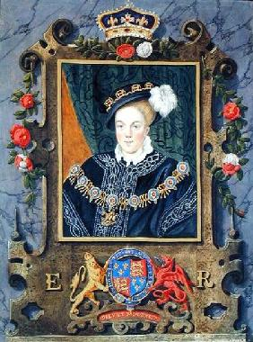 Portrait of Edward VI (1537-53) King of England, aged about 14 from 'Memoirs of the Court of Queen E