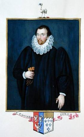 Portrait of Edward Coke (1552-1634) from 'Memoirs of the Court of Queen Elizabeth'