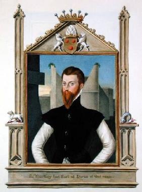 Portrait of Edward Courtenay (c.1526-56) Last Earl of Devonshire from 'Memoirs of the Court of Queen