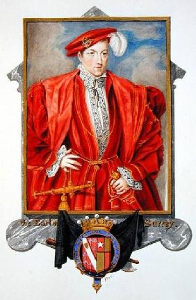 Portrait of Henry Howard (c.1517-47) Earl of Surrey from 'Memoirs of the Court of Queen Elizabeth'