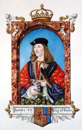 Portrait of James IV of Scotland (1473-1513) from 'Memoirs of the Court of Queen Elizabeth'