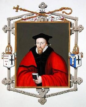 Portrait of John Whitgift (c.1530-1604) Archbishop of Canterbury from 'Memoirs of the Court of Queen
