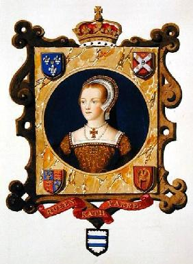 Portrait of Katherine Parr (1512-48) 6th Queen of Henry VIII as a Young Woman from 'Memoirs of the C