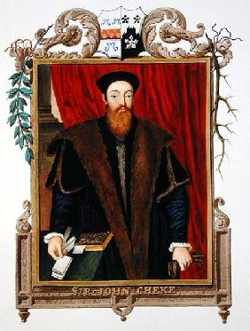 Portrait of Sir John Cheke (1514-57) from 'Memoirs of the Court of Queen Elizabeth'