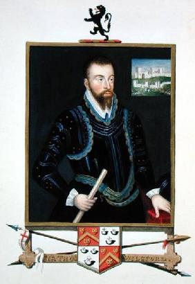 Portrait of Sir Thomas Wilsford from 'Memoirs of the Court of Queen Elizabeth'