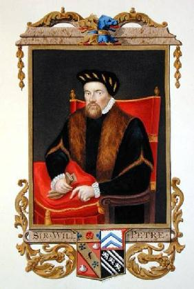 Portrait of Sir William Petre (c.1505-72) from 'Memoirs of the Court of Queen Elizabeth' after the p
