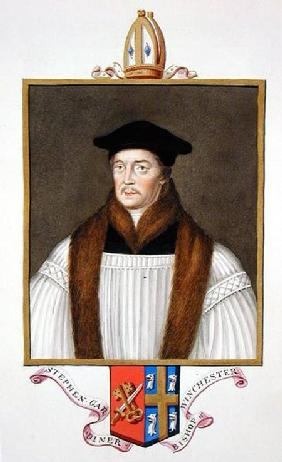 Portrait of Stephen Gardiner (c.1483-1555) Bishop of Winchester from 'Memoirs of the Court of Queen